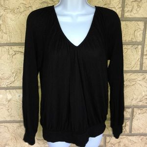 Nicole by Nicole Miller Tunic Black Top large